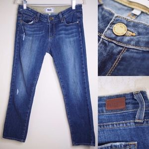 PAIGE Skyline Skinny Blue Jeans in Size 27